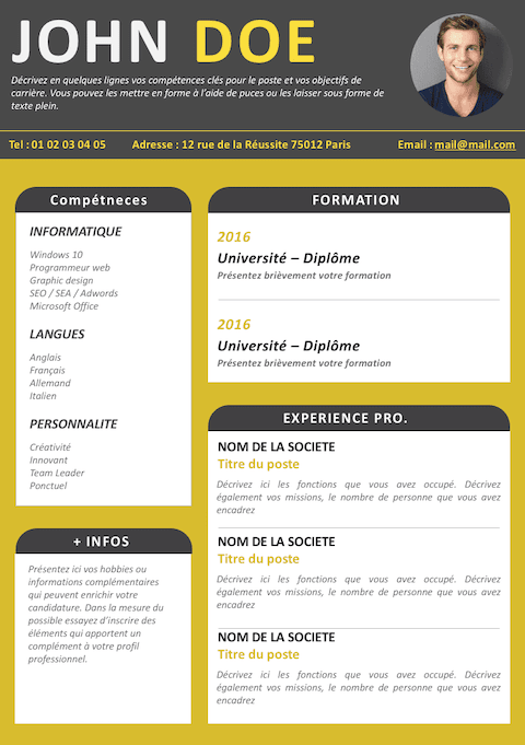 CV Simple et Design