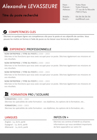 CV Simple et efficace