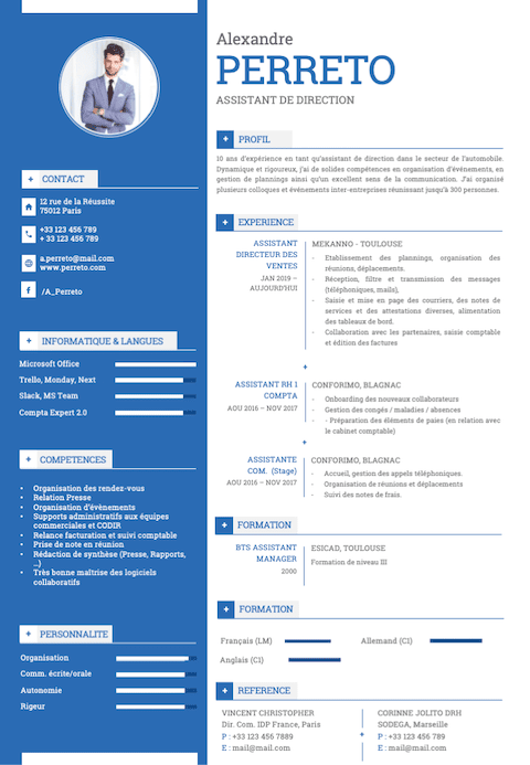 Cv Assitante de direction